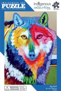Big Wolf Native American Jigsaw Puzzle