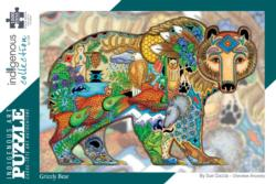 Grizzly Bear Native American Jigsaw Puzzle