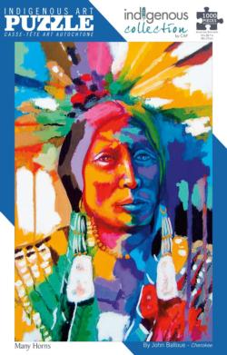 Many Horns Native American Jigsaw Puzzle