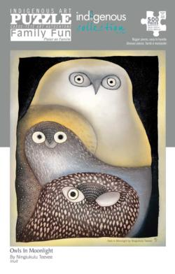 Owls in Moonlight Owl Jigsaw Puzzle