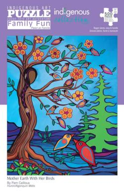 Mother Earth with Her Birds Native American Jigsaw Puzzle