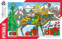 Holiday Reindeer Christmas Jigsaw Puzzle