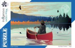 Lone Canoe Native American Jigsaw Puzzle