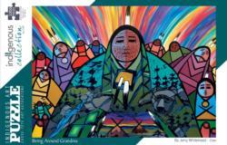 Being Around Grandma Native American Jigsaw Puzzle