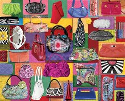 Purses! Purses! Purses! Collage Jigsaw Puzzle