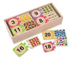Puzzle Cards - Numbers Educational Wooden