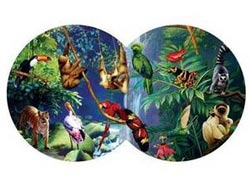 Rendezvous in the Rainforest Birds Shaped Puzzle