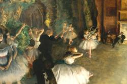 Rehearsal on the Ballet Stage by Edgar Degas Fine Art