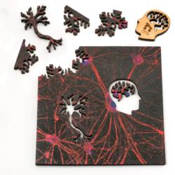 Red Neural Network Science One of a Kind Puzzle