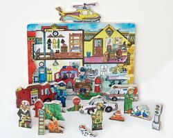Flipzles Rescue Station Puzzle Fantasy Wooden Jigsaw Puzzle