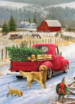 Christmas on the Farm Nostalgic / Retro Jigsaw Puzzle