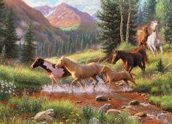 Mountain Thunder Horses Jigsaw Puzzle