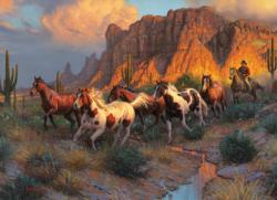 Western Canyon Horses Jigsaw Puzzle