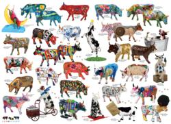 Cow Parade Collage Jigsaw Puzzle