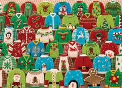 Ugly Xmas Sweaters Collage Jigsaw Puzzle