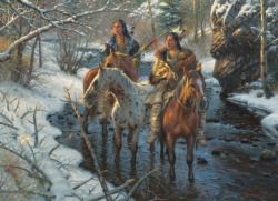 Creek Crossing Native American Jigsaw Puzzle