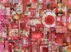 Red Collage Jigsaw Puzzle