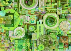 Green Collage Jigsaw Puzzle