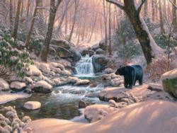 Black Bear Brook Snow Jigsaw Puzzle
