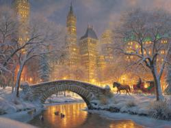 Winter in the Park Bridges Jigsaw Puzzle