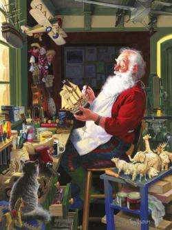 Santa's Workbench Christmas Jigsaw Puzzle