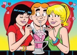 Love Triangle Cartoons Jigsaw Puzzle