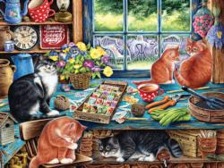 Cats Retreat Domestic Scene Large Piece