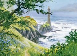 Summer Lighthouse Seascape / Coastal Living Jigsaw Puzzle