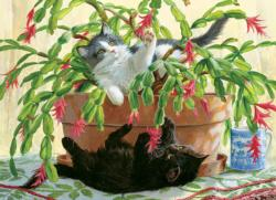 Cactus Kitties Cats Jigsaw Puzzle