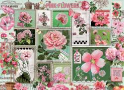 Pink Flowers Collage Jigsaw Puzzle