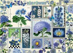 Blue Flowers Collage Jigsaw Puzzle