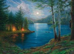 Summer Night Lakes / Rivers / Streams Jigsaw Puzzle