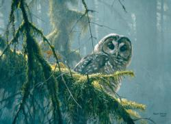 Mossy Branches - Spotted Owl Owl Jigsaw Puzzle