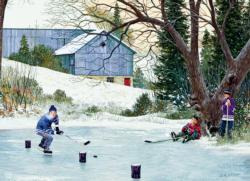 Hockey Drills Winter Jigsaw Puzzle