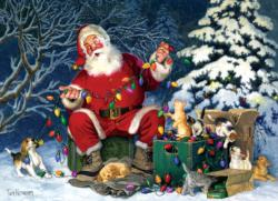 Santa's Little Helper Christmas Jigsaw Puzzle
