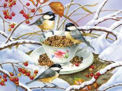 Chickadee Tea Birds Large Piece