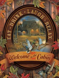 Welcome to the Cabin Cottage / Cabin Large Piece