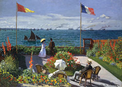 Garden at Sainte-Adresse (Monet) Fine Art Jigsaw Puzzle