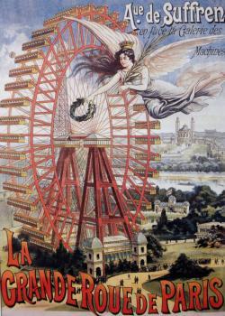 La Grande Roue de Paris (vintage poster) Paris Jigsaw Puzzle