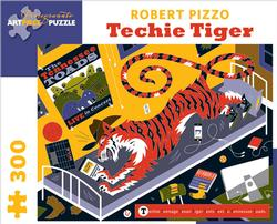 Techie Tiger Tigers Jigsaw Puzzle