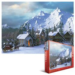 Rocky Mountain Christmas Winter Jigsaw Puzzle