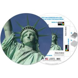 Statue of Liberty Statue of Liberty Round Jigsaw Puzzle