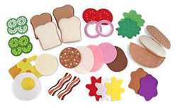 Felt Play Food - Sandwich Set Food and Drink Pretend Play