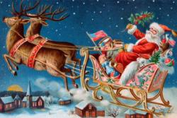 Santa's Flying Sleigh People