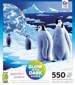 Antarctica's Children (Schimmel Glow) Birds Jigsaw Puzzle