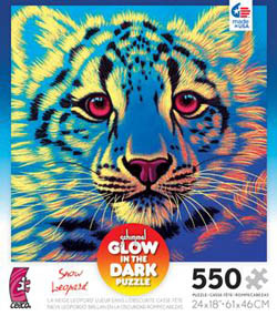 Snow Leopard (Schimmel Glow) Jungle Animals Jigsaw Puzzle