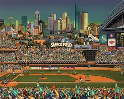 Seattle Mariners Baseball Jigsaw Puzzle