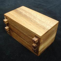 Secret Lock Box Wooden Brain Teaser Brain Teaser