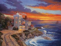 Sentinel of Light Lighthouses Jigsaw Puzzle