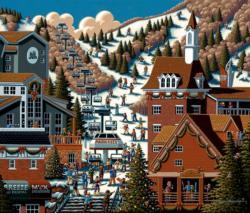 Ski Park City United States Jigsaw Puzzle